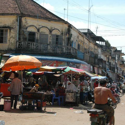 Straßenleben in Kratie, Kambodscha