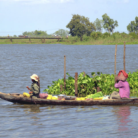 Das Leben auf dem Mekong-Fluss, Kambodscha