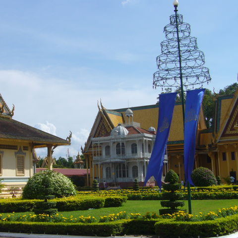 Blick auf den Pavillon von Napoleon, Kambodscha