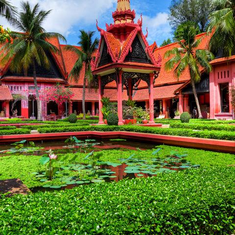 Garten des Nationalmuseums in Phnom Penh, Kambodscha
