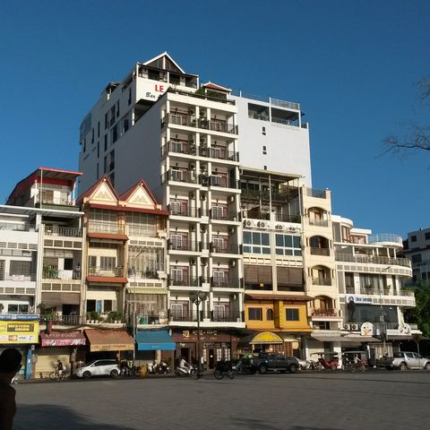Straßenleben in Phnom Penh, Kambodscha