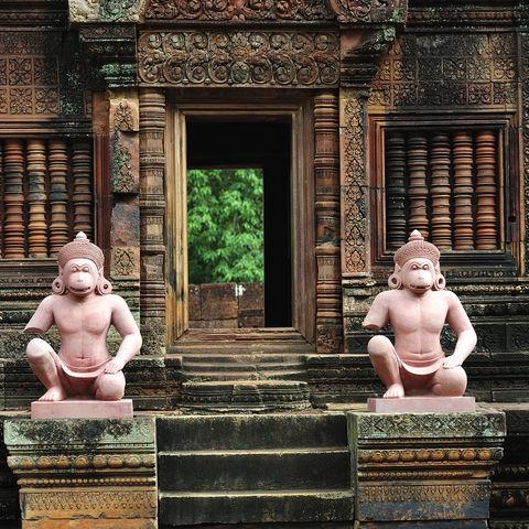 Der Angkor Banteay Tempel, Kambodscha