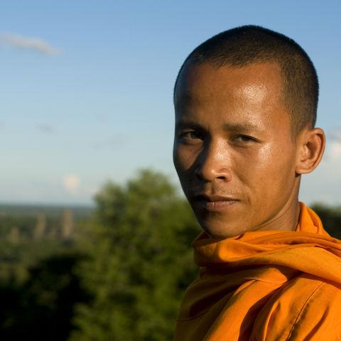 Porträt eines jungen Mönchs © Thinkstock, iStockphoto