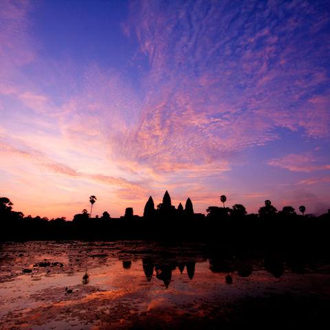 Angkor Wat Dämmerung, Kambodscha