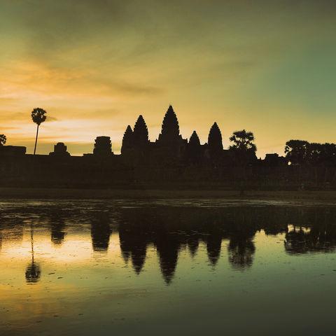 Panorama von Angkor Wat, Kambodscha