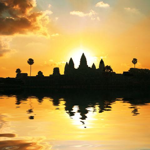 Schattengemälde vom Angkor Wat, Kambodscha