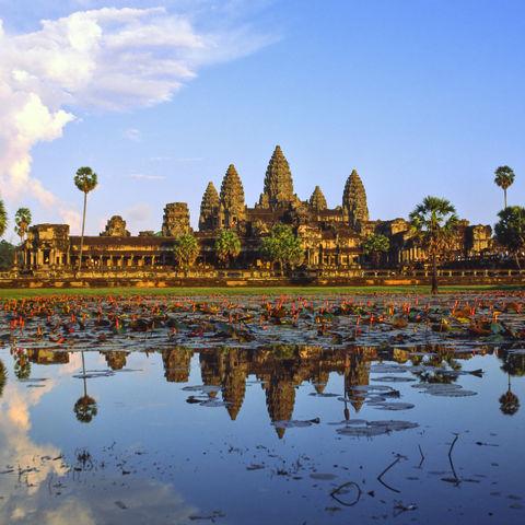 Sonnenuntergang am Angkor Wat, Kambodscha