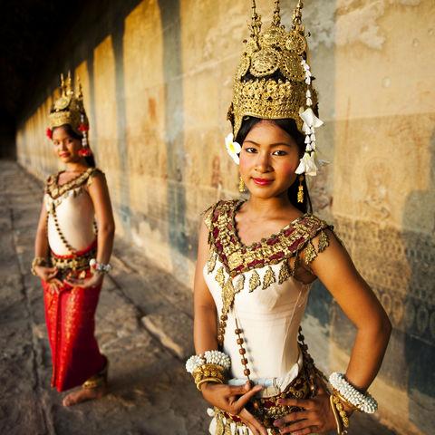 Traditionelle Apsara Tänzerinnen, Siem Reap, Kambodscha