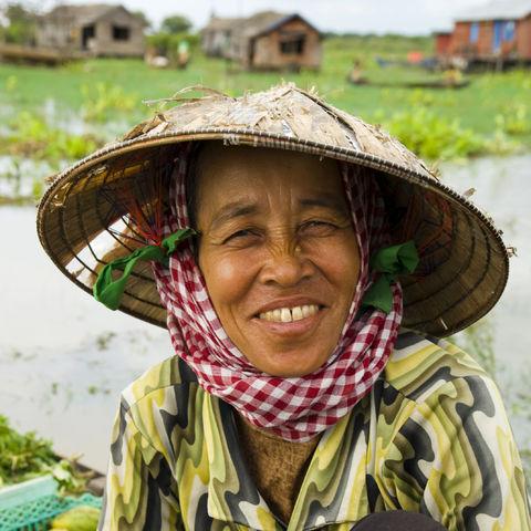 Lachende Kambodschanerin, Kambodscha
