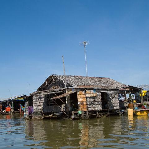 Schwimmendes Dorf auf dem Tonle Sap See, Kambodscha