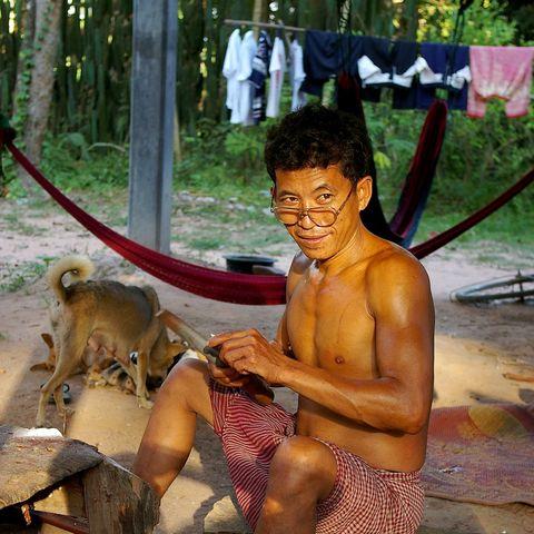 Einheimischer in der Nähe von Angkor, Kambodscha