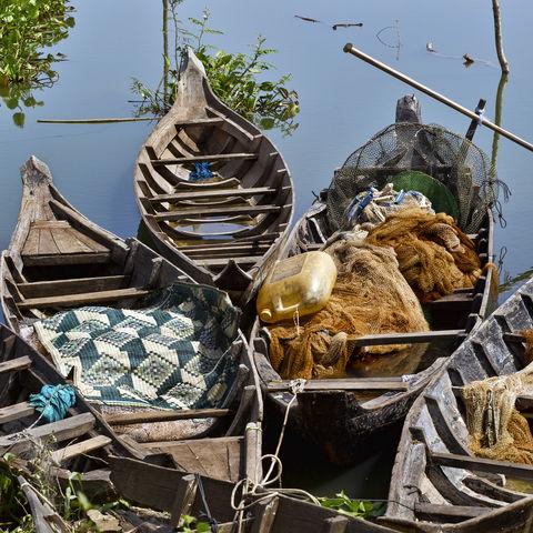 Fischerboote, Kambodscha