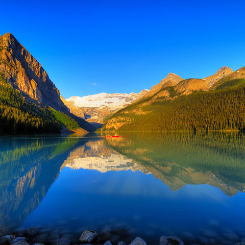 Weltberühmter Lake Louise im Banff-Nationalpark, Kanada