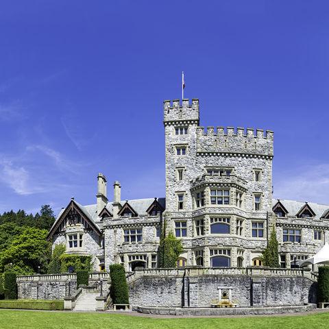 Historisches Hatley Schloss in Victoria, Vancouver Island, British Columbia, Kanada