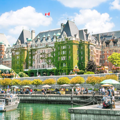 Einer der schönsten Häfen der Welt: Inner Harbour, Victoria, Kanada