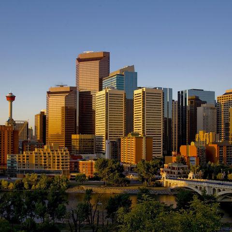 Die Skyline von Calgary, Kanada