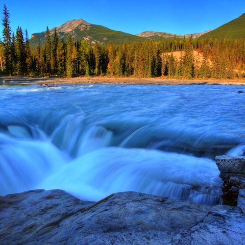 Athabasca-Wasserfälle im Jasper-Nationalpark, Kanada