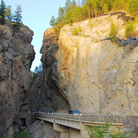 West Gate Canyon im Kootenay-Nationalpark, Kanada