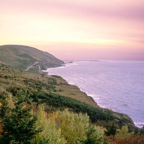 Sonnenuntergang über Cape Breton, Kanada
