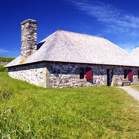 Altes Steinhaus im Fortress-of-Louisbourg-Nationalpark, Kanada
