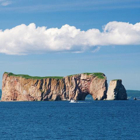 Der Rocher Percé auf der Gaspé-Halbinsel, Kanada