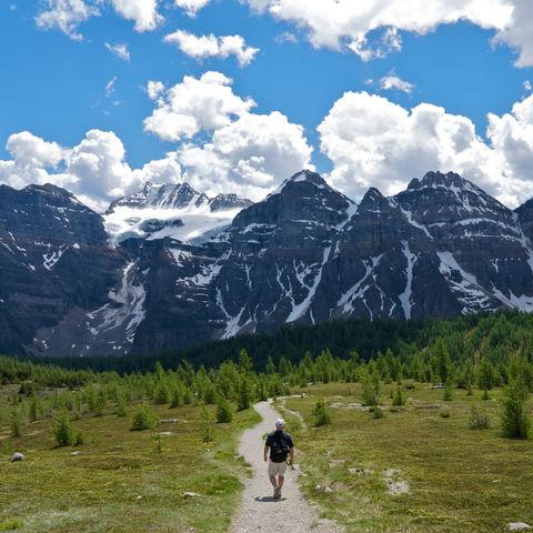 Wandern in den Rocky Mountains, Kanada