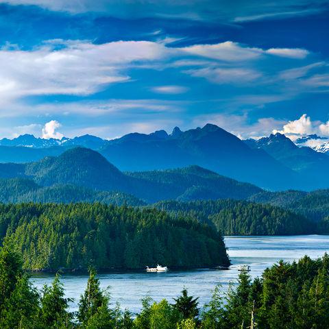 Panoramablick über Tofino, Kanada