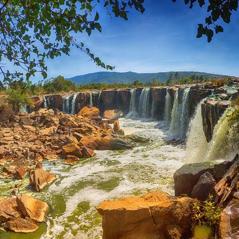 14 Wasserfälle im Nationalpark Fourteen Falls, Kenia