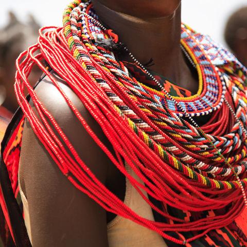 Schmuck der Samburu, Kenia