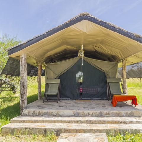 Mitten in kenianischer Wildnis: Ein Zelt-Safaricamp, Kenia
