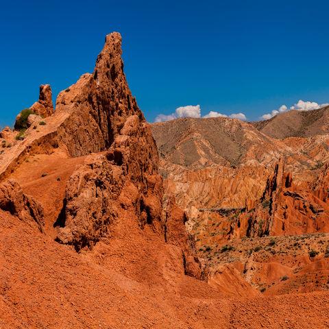 Sandsteinformation des Skazka Canyons, Kirgistan
