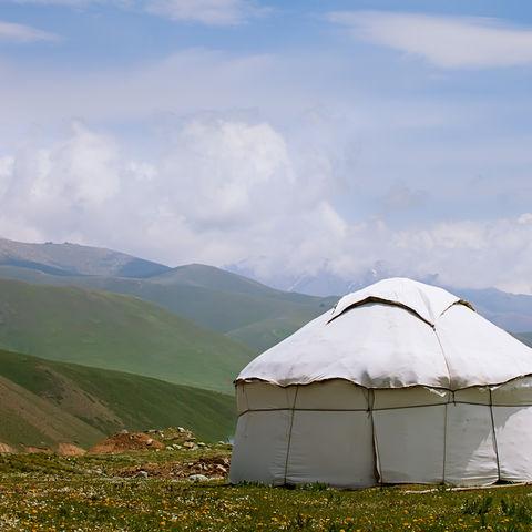 Jurte im Tian Shan Gebirge © Elena Moiseeva, Dreamstime.com