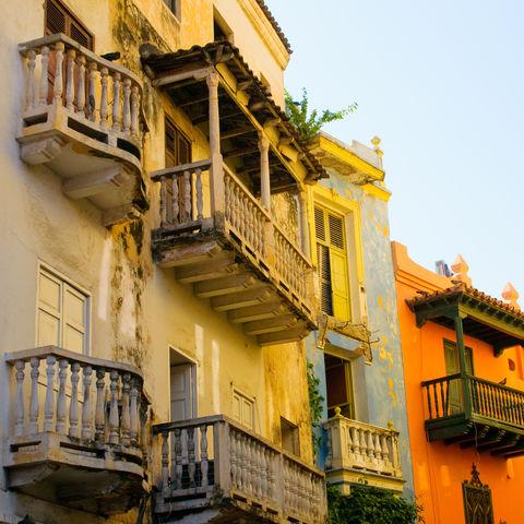 Häuser in Cartagena, Kolumbien