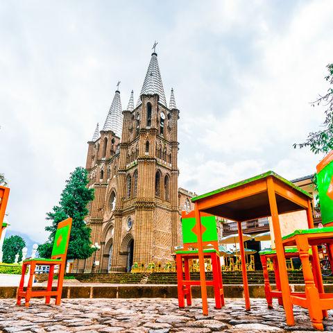 Koloniales Prachtstück: das in der Nähe von Medellín gelegene Kolonialdörfchen El Jardín, Kolumbien