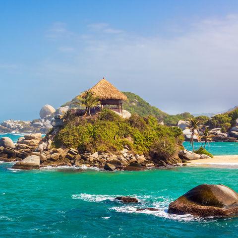 Strandhütte im Tayrona-Nationalpark, Kolumbien