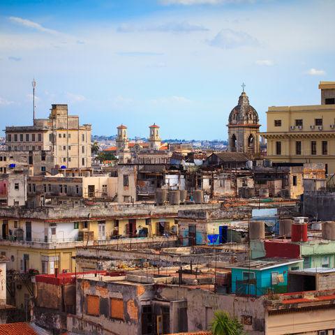 Blick auf die Dächer Havannas, Kuba