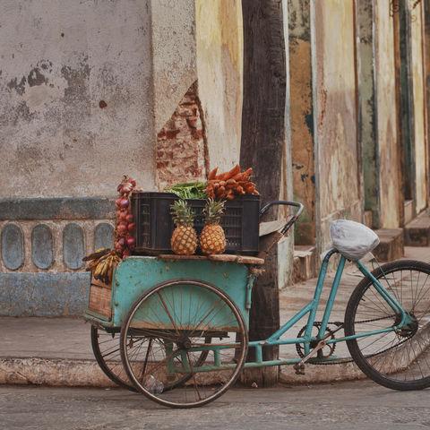 Obst- und Gemüsekarren, Kuba