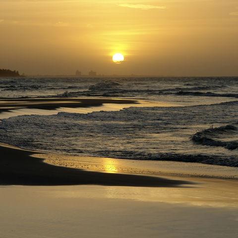 Sonnenuntergang am Strand, Kuba