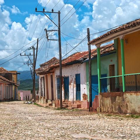 Bunte Straßen in Trinidad, Kuba