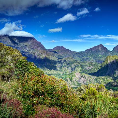 Landschaft des Cirque de Salazie, La Réunion