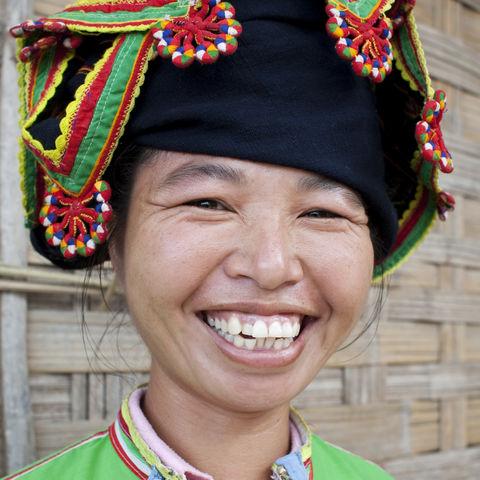 Lachende Frau, Laos