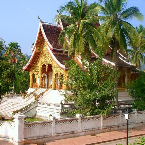 Temple beim Königspalast in Luang Prabang, Laos