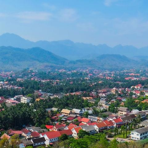 Panoramablick von Luang Prabang, Laos