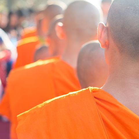Laotische Mönche, Laos