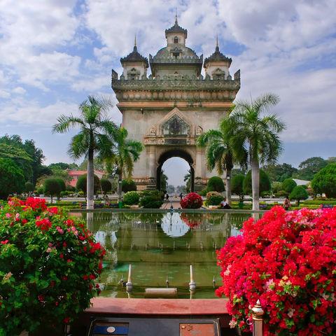 Patuxai-Triumphbogen in Vientiane, Laos