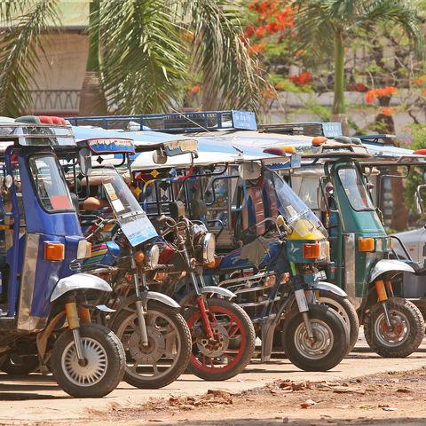 Tuk Tuks in Vientiane, Laos