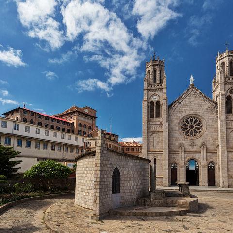 Teil von Antananarivos historischem Vermächtnis: Andohalo Kathedrale, Madagaskar