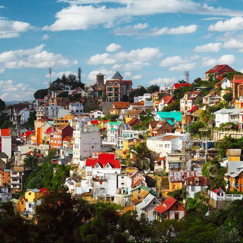 Die Häuser von Antananarivo, Madagaskar