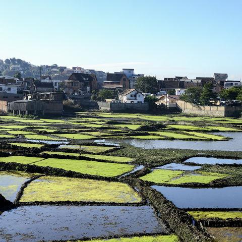 Landschaft von Antananarivo, Madagaskar
