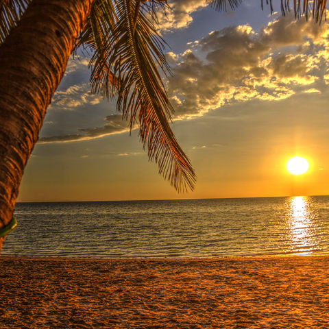 Sonnenuntergang in Ifaty, Madagaskar